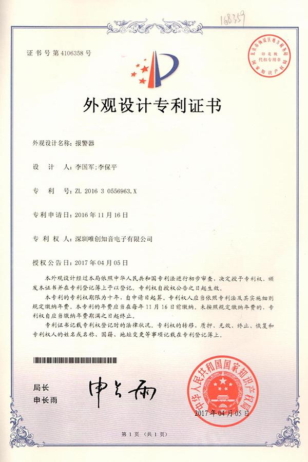 荣誉证书(一)