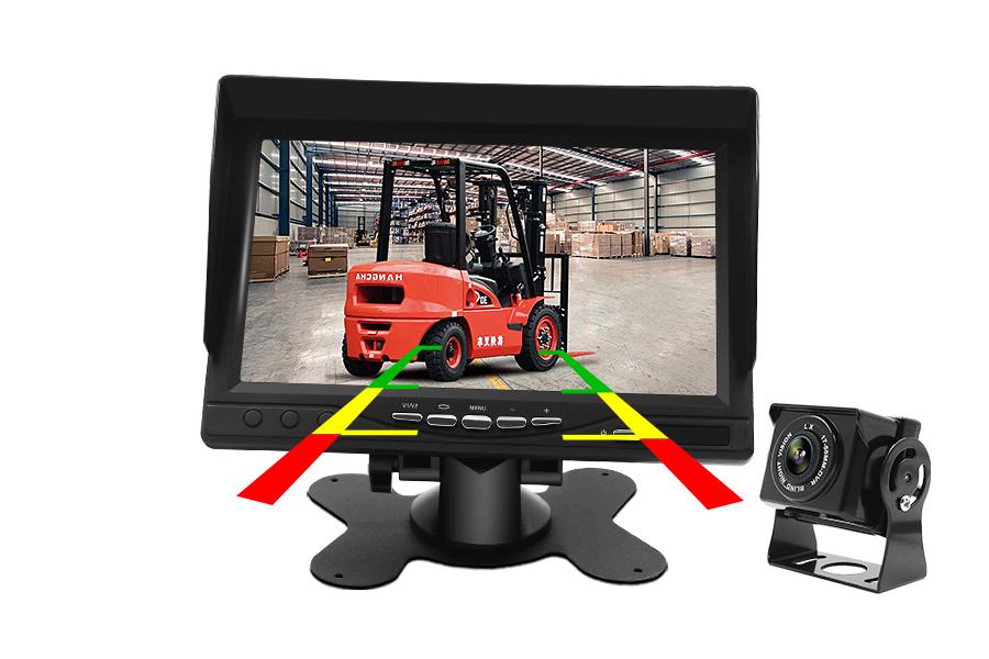 高清7寸后视镜行车记录仪1080P触摸屏前后双录倒车影像