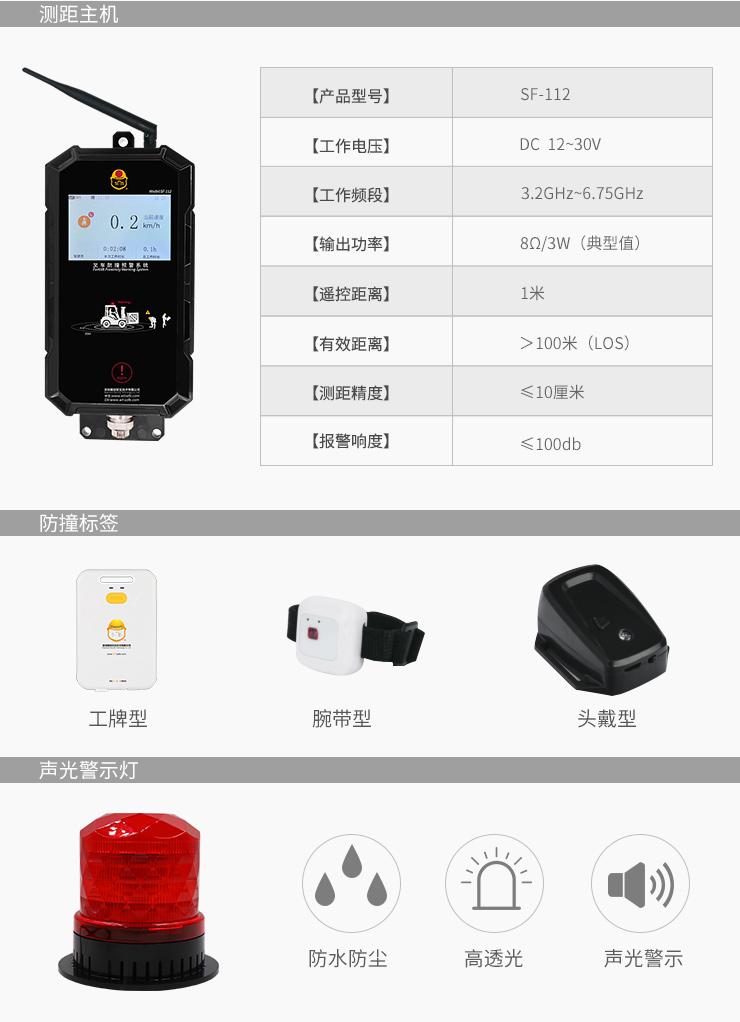 雷竞技防撞系统产品说明
